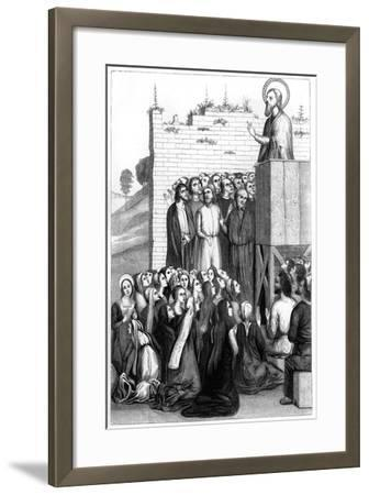 Christ Preaching, 15th Century-A Bisson-Framed Giclee Print