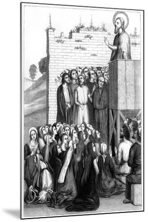 Christ Preaching, 15th Century-A Bisson-Mounted Giclee Print