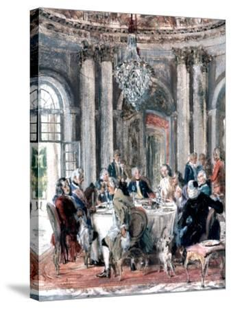 Reunion at the Mansion, 1849-Adolph Menzel-Stretched Canvas Print