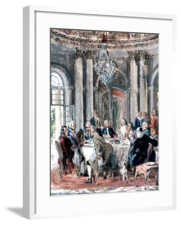 Reunion at the Mansion, 1849-Adolph Menzel-Framed Giclee Print