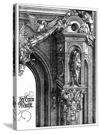 The Triumphal Arch of Emperor Maximilian I, 1515-Albrecht Durer-Stretched Canvas Print