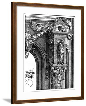 The Triumphal Arch of Emperor Maximilian I, 1515-Albrecht Durer-Framed Giclee Print