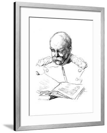 Otto Von Bismark, German Statesman, 1877-A von Werner-Framed Giclee Print