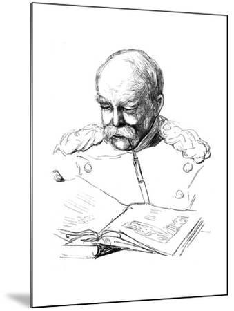 Otto Von Bismark, German Statesman, 1877-A von Werner-Mounted Giclee Print