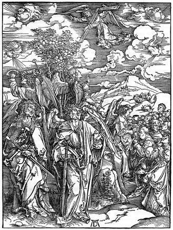 The Four Angels Holding the Winds, 1498-Albrecht Durer-Framed Giclee Print