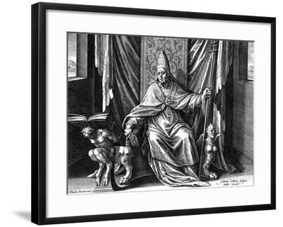 Pope Gregory I, the Great, C1540-1567-Adriaen Collaert-Framed Giclee Print