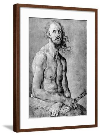 Christ, Man of Sorrow, with Durer?S Features, 1522-Albrecht Durer-Framed Giclee Print