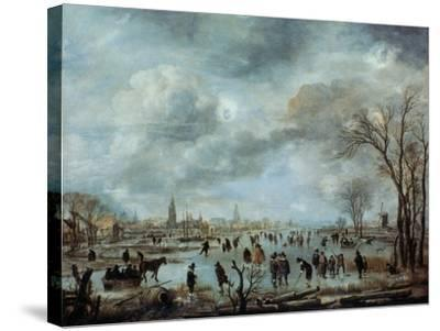 River View in the Winter, 17 Century-Aert van der Neer-Stretched Canvas Print