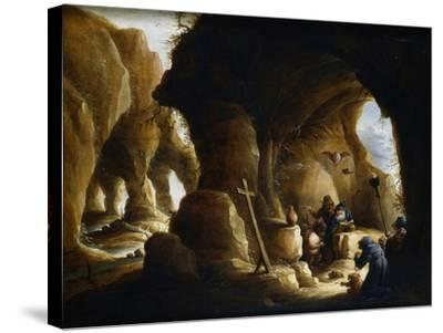 The Temptation of St Anthony, C1649-1670-Abraham Teniers-Stretched Canvas Print