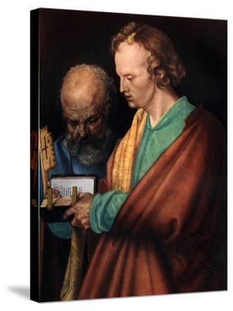 St John with St Peter, 1526-Albrecht Durer-Stretched Canvas Print