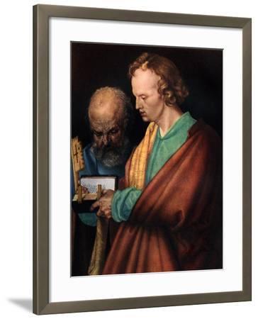 St John with St Peter, 1526-Albrecht Durer-Framed Giclee Print