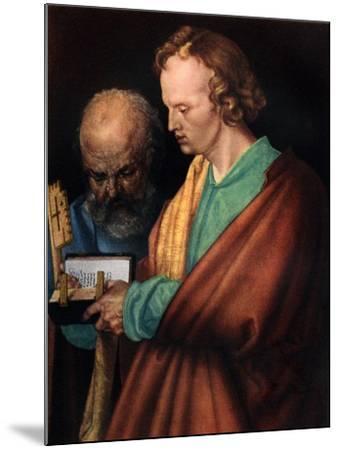 St John with St Peter, 1526-Albrecht Durer-Mounted Giclee Print