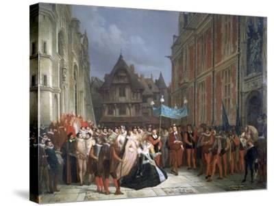 Duchess of Montpensier, 1864-Ary Scheffer-Stretched Canvas Print