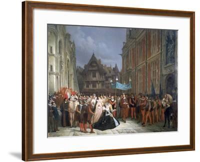 Duchess of Montpensier, 1864-Ary Scheffer-Framed Giclee Print