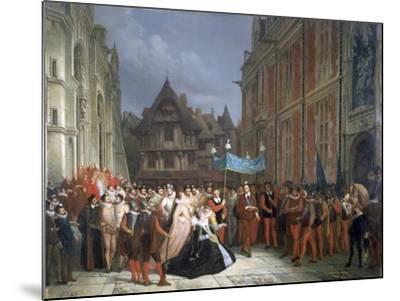 Duchess of Montpensier, 1864-Ary Scheffer-Mounted Giclee Print