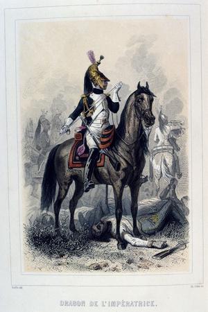 Dragon De L'Imperatice, (Light Dragoon), 1859-Auguste Raffet-Stretched Canvas Print