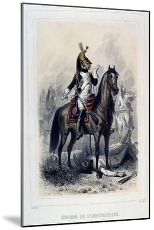 Dragon De L'Imperatice, (Light Dragoon), 1859-Auguste Raffet-Mounted Giclee Print