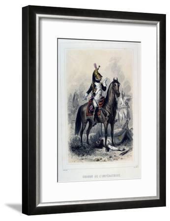 Dragon De L'Imperatice, (Light Dragoon), 1859-Auguste Raffet-Framed Giclee Print