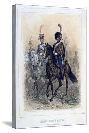 Field Marshal of the Horse Artillery, 1859-Auguste Raffet-Stretched Canvas Print