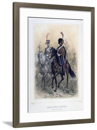 Field Marshal of the Horse Artillery, 1859-Auguste Raffet-Framed Giclee Print