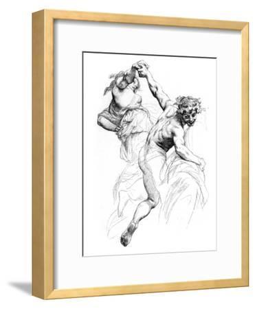 Study for the Triumph of Flora, C1880-1882-Alexandre Cabanel-Framed Giclee Print