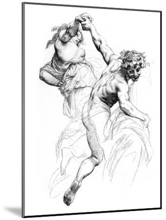 Study for the Triumph of Flora, C1880-1882-Alexandre Cabanel-Mounted Giclee Print