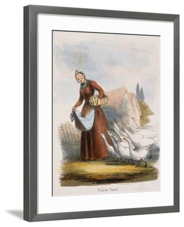 Farm Yard, C1845-Benjamin Waterhouse Hawkins-Framed Giclee Print