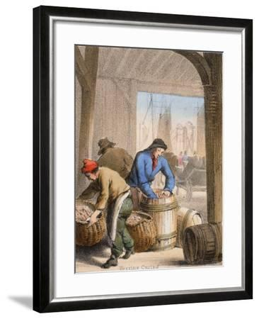 Herring Curing, C1845-Benjamin Waterhouse Hawkins-Framed Giclee Print