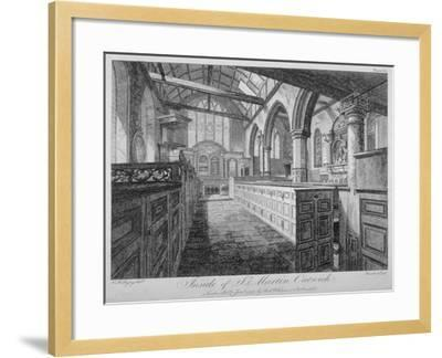 Interior of the Church of St Martin Outwich, City of London, 1796-Barrett-Framed Giclee Print