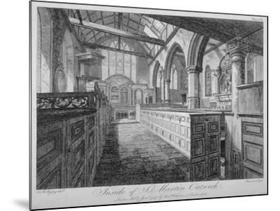 Interior of the Church of St Martin Outwich, City of London, 1796-Barrett-Mounted Giclee Print