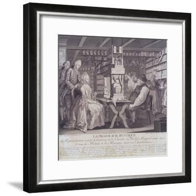 La Pharmacie Rustique, C1775-Barthelemi Hubner-Framed Giclee Print