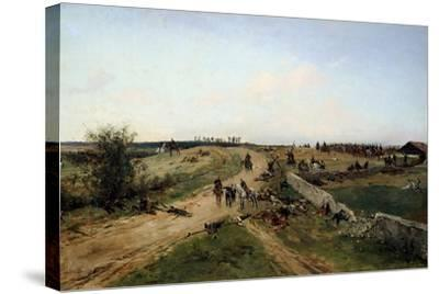 Scene from the Franco-Prussian War, 1870, 19th Century-Alphonse De Neuville-Stretched Canvas Print