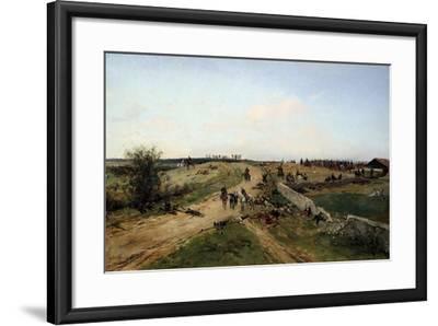 Scene from the Franco-Prussian War, 1870, 19th Century-Alphonse De Neuville-Framed Giclee Print