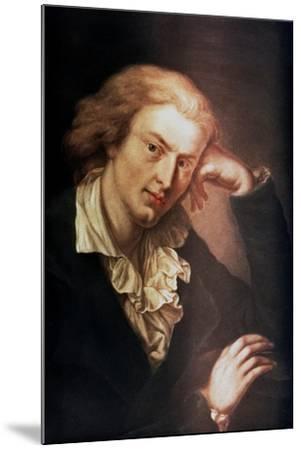 Johann Christoph Friedrich Von Schiller, German Poet, Dramatist and Historian, C1785-Anton Graff-Mounted Giclee Print