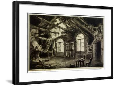 Stage Design for the Play 'The Gambler's Life, by V Ducange, 1828-Antonio Canoppi-Framed Giclee Print
