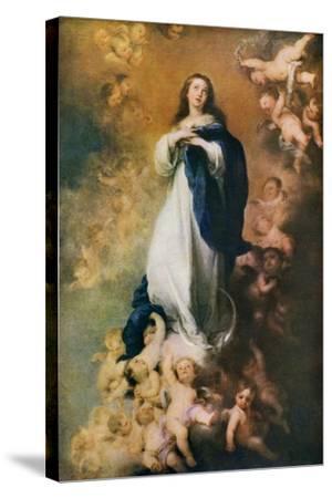 Immaculate Conception, C1678-Bartolom? Esteban Murillo-Stretched Canvas Print