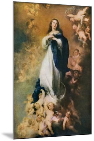 Immaculate Conception, C1678-Bartolom? Esteban Murillo-Mounted Giclee Print