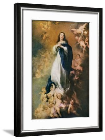 Immaculate Conception, C1678-Bartolom? Esteban Murillo-Framed Giclee Print