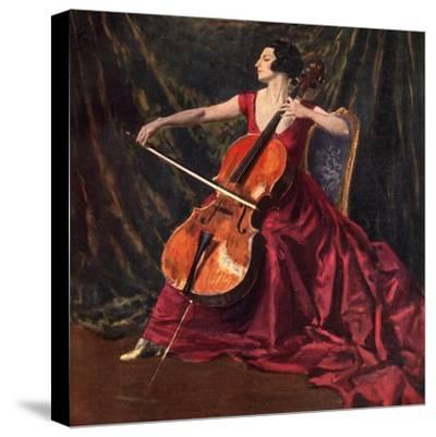 Madame Suggia, 1920-1923-Augustus John-Stretched Canvas Print