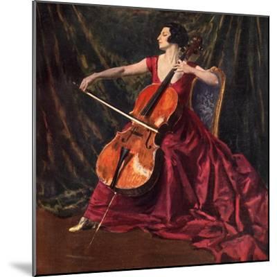 Madame Suggia, 1920-1923-Augustus John-Mounted Giclee Print