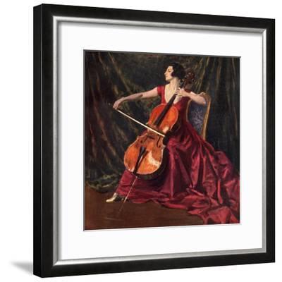 Madame Suggia, 1920-1923-Augustus John-Framed Giclee Print
