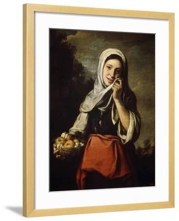 Girl Selling Fruit, C1650-C1660-Bartolom? Esteban Murillo-Framed Giclee Print