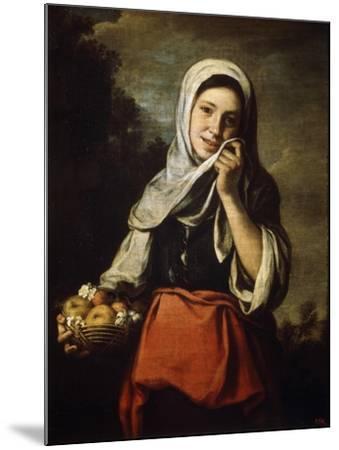 Girl Selling Fruit, C1650-C1660-Bartolom? Esteban Murillo-Mounted Giclee Print