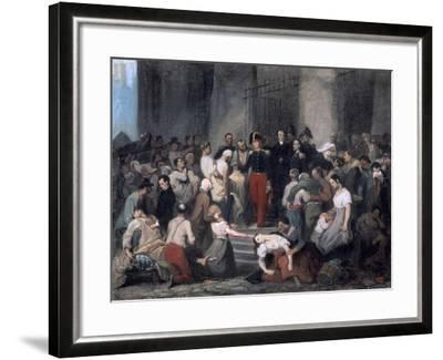 The Duke of Orleans ..During the Cholera Epidemic, C1830-Alfred Johannot-Framed Giclee Print