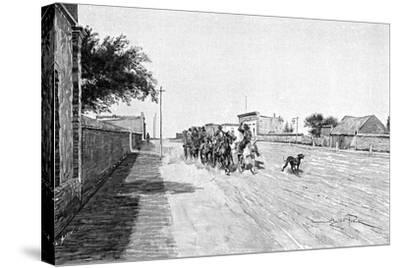 A Street in General Acha, Argentina, 1895-Alfred Paris-Stretched Canvas Print