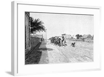 A Street in General Acha, Argentina, 1895-Alfred Paris-Framed Giclee Print