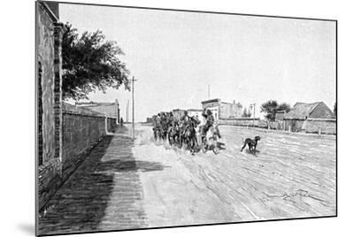 A Street in General Acha, Argentina, 1895-Alfred Paris-Mounted Giclee Print