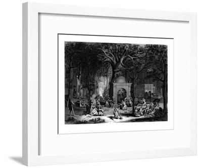 Hindu Fakirs Practicing their Superstitious Rites, 19th Century-Bell-Framed Giclee Print