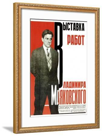 Poster for an Exhibition of Vladimir Mayakovsky's Works, 1931-Aleksey Gan-Framed Giclee Print