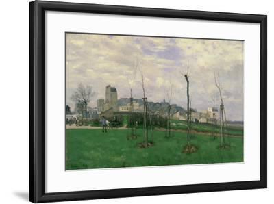 View of Montmartre from the Cité Des Fleurs, 1869-Alfred Sisley-Framed Giclee Print